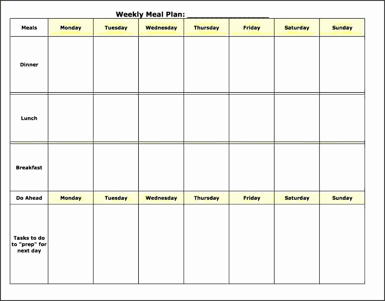 5 Daily Meal Planner Template Sampletemplatess
