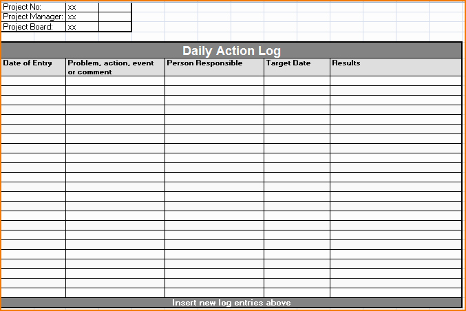 5 Daily Work Log Template