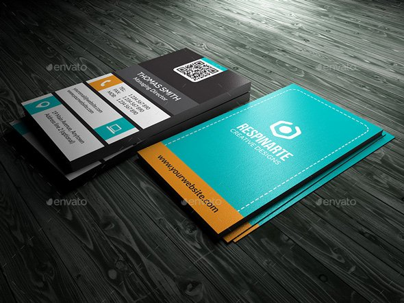 5 Double Sided Vertical Business Card Templates