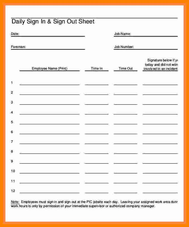 5 Employee Paycheck Sign Off Sheet