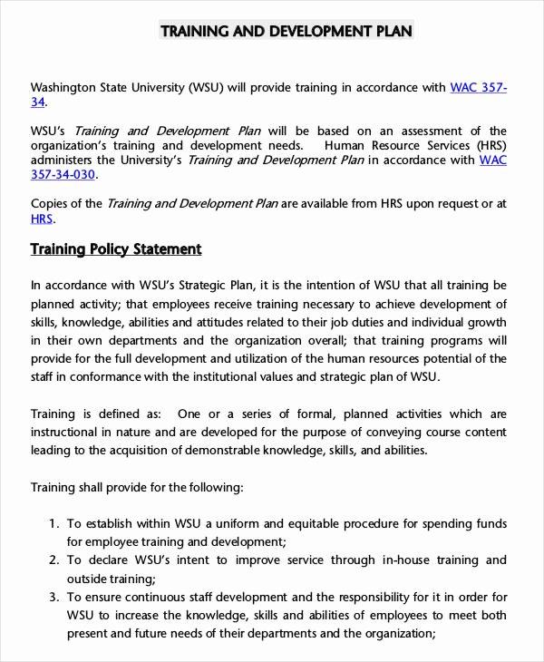 5 Employee Training Plan Templates Free Samples