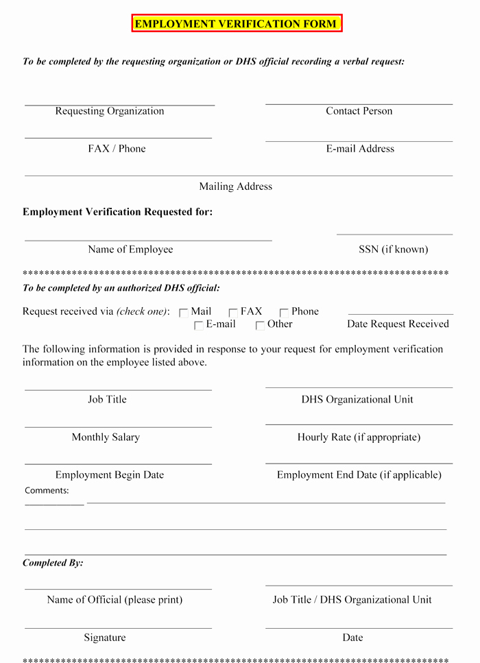 5 Employment Verification form Templates to Hire Best Employee