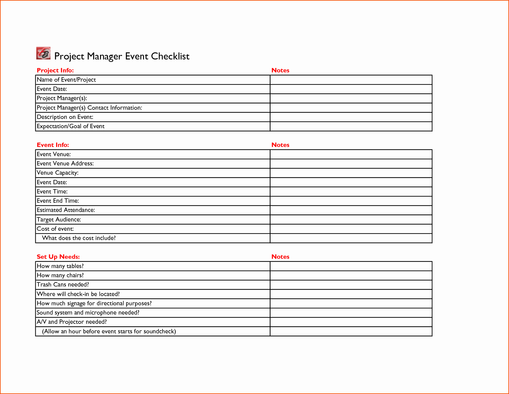 5 event Planning Checklist Template Bookletemplate