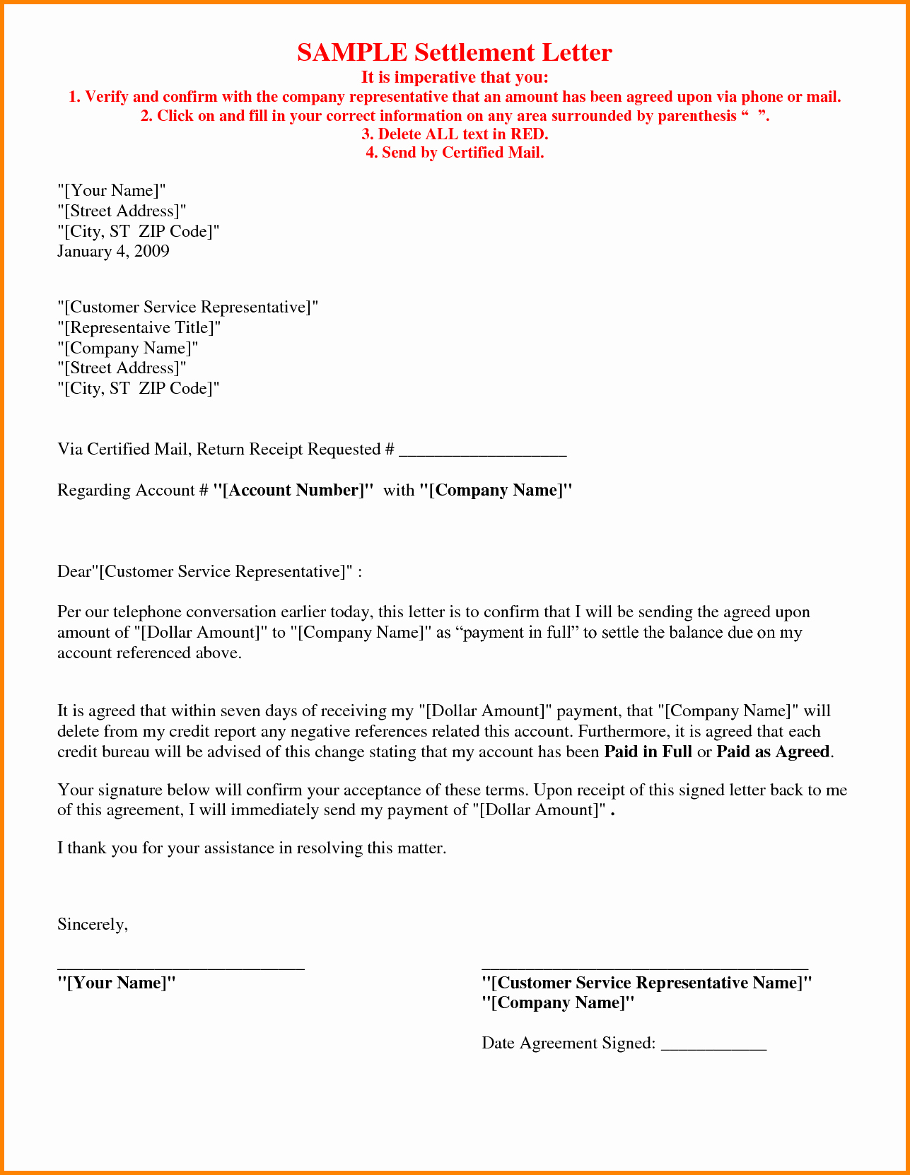 5 Example Of Agreement Letter