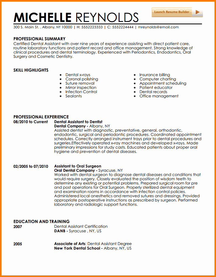 5 Experienced Dental Hygienist Resume