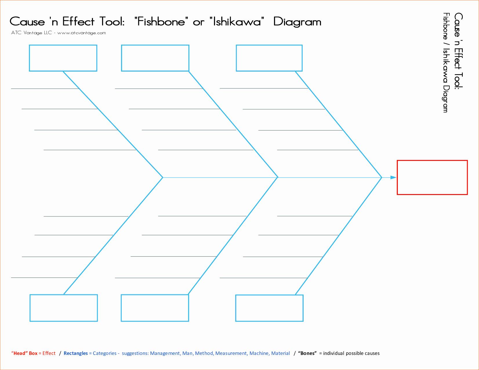 5 Fishbone Diagram Template Word