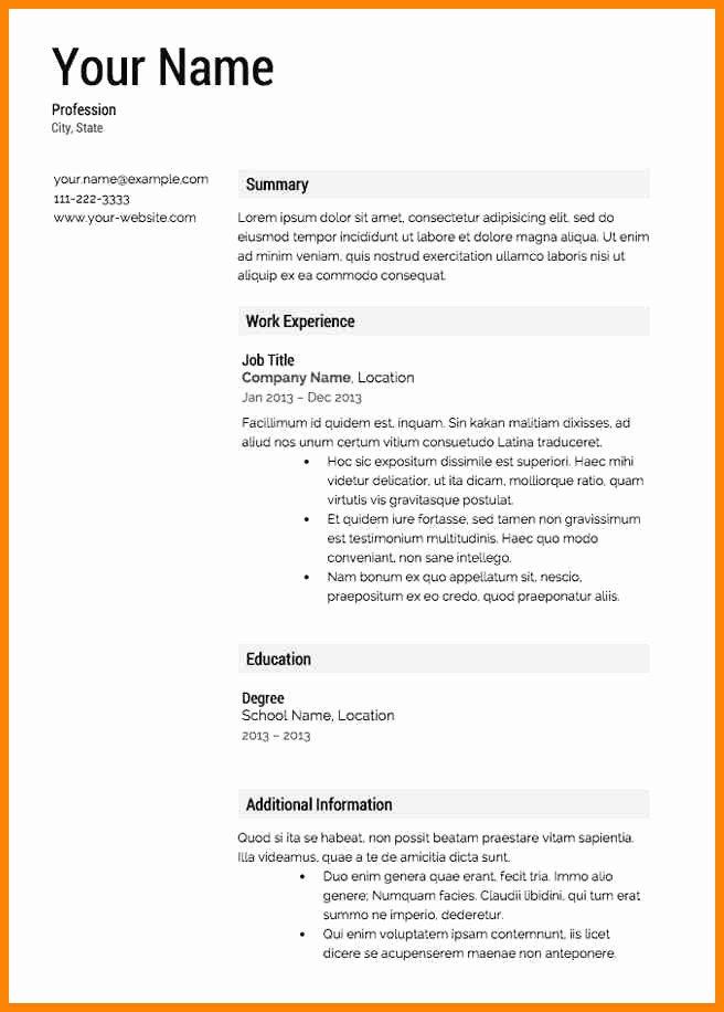 5 Free Basic Resume Builder