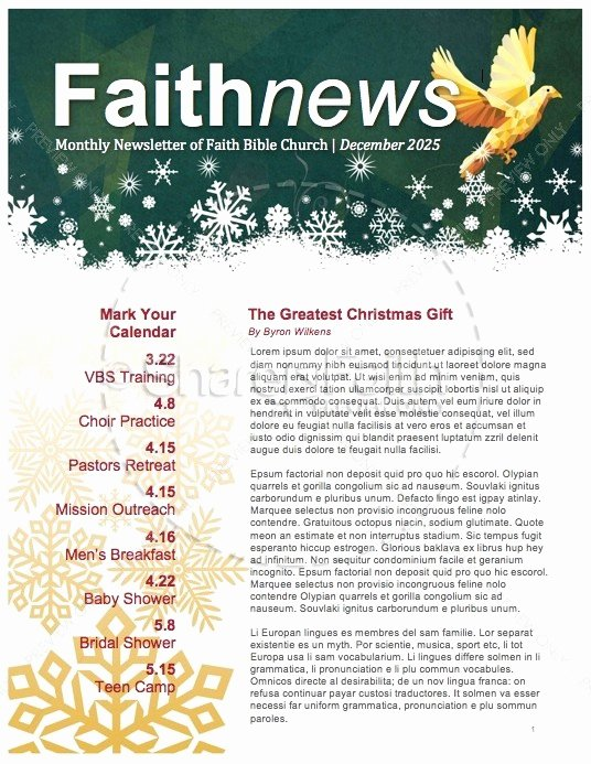5 Free Christmas Newsletter Templates for Church