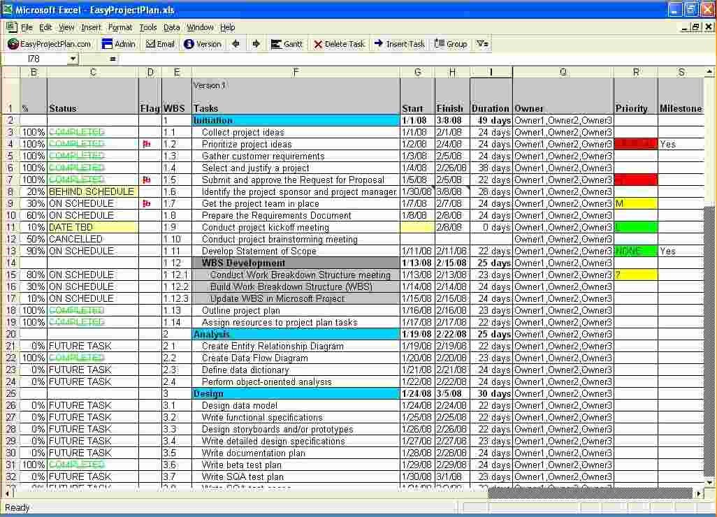 5 Free Excel Project Management Tracking Templates