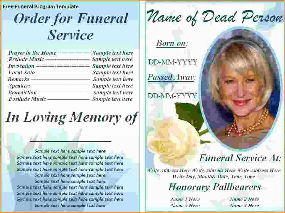 5 Free Funeral Program Template for Word