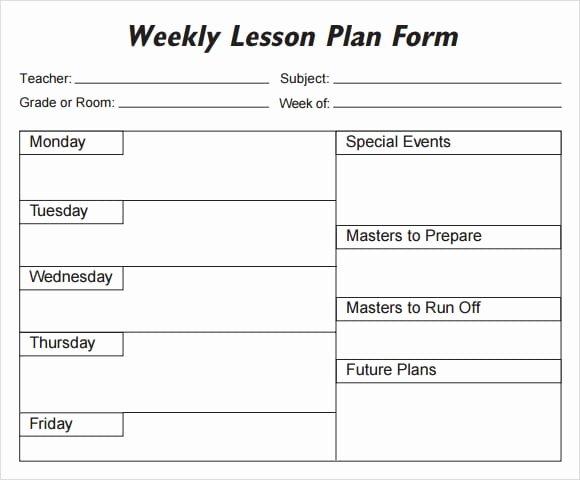 5 Free Lesson Plan Templates Excel Pdf formats