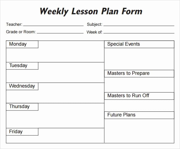 5 Free Lesson Plan Templates Excel Pdf formats
