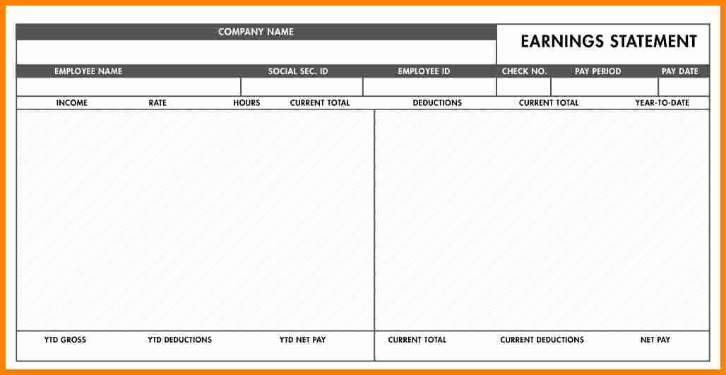 5 Free Paycheck Stub Template Word