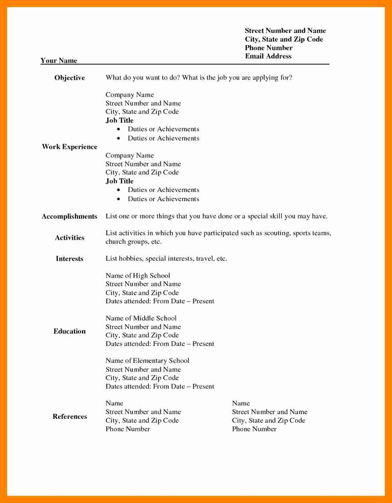 5 Free Printable Resume Templates Blank