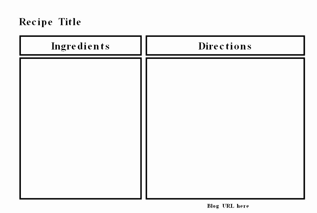 5 Free Recipe Templates for Word Oeptk
