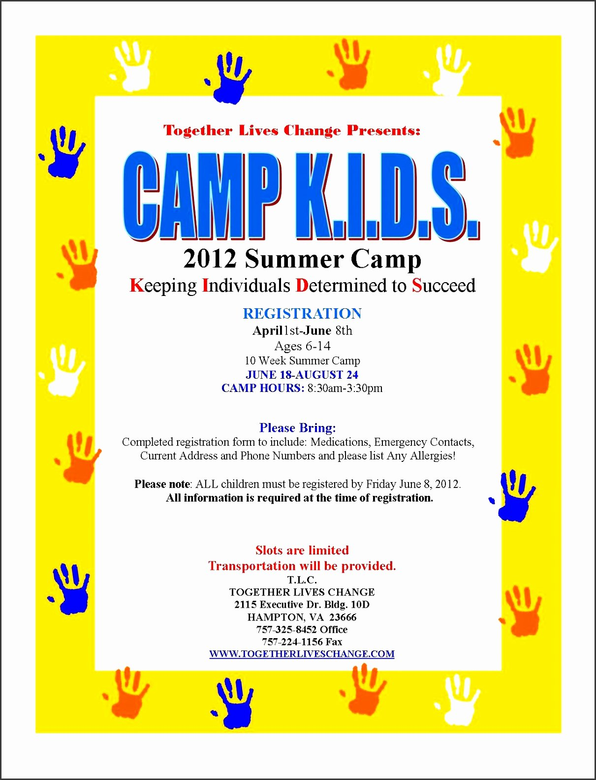 5 Free Summer Camp Registration form Template