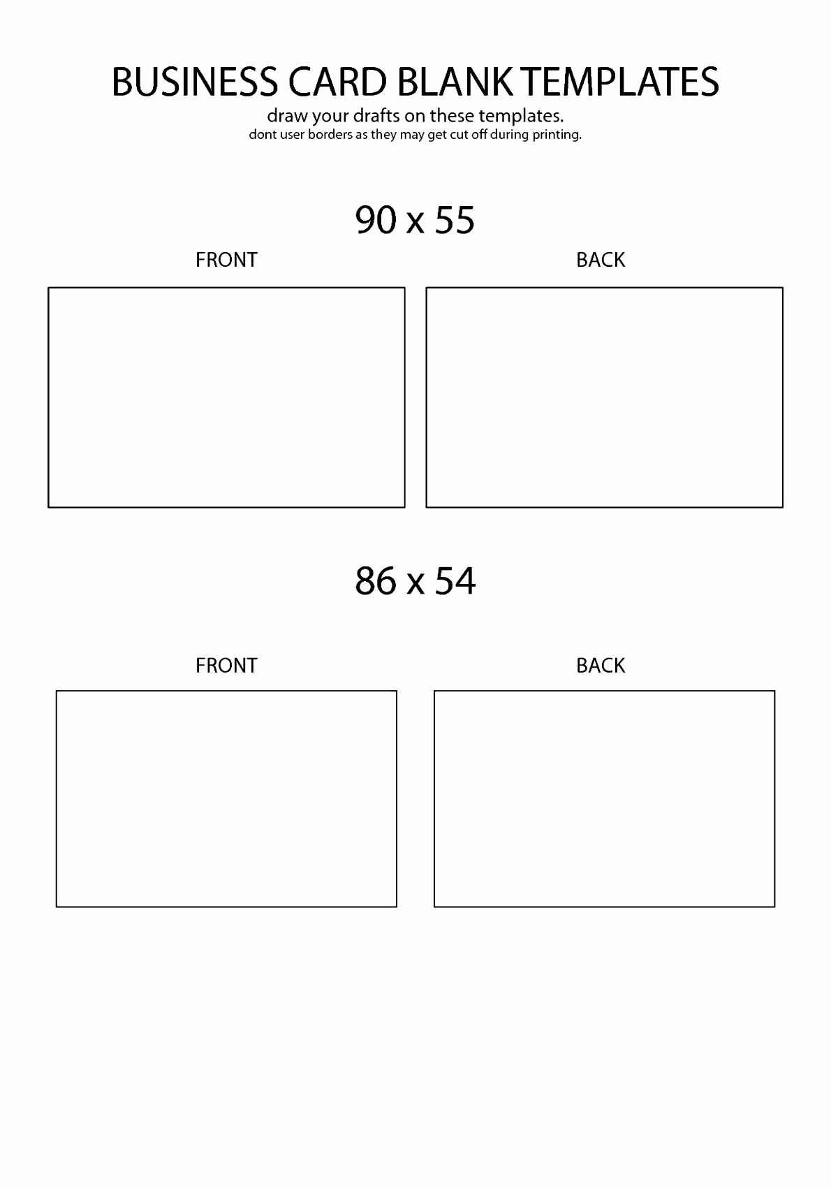 5 Free Template for Business Cards Word Awifa
