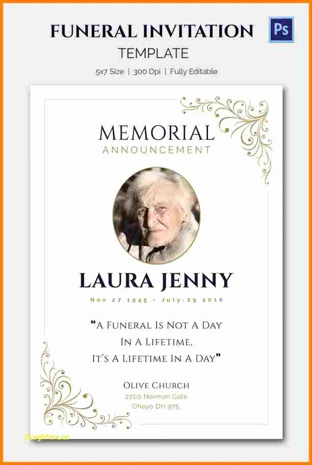 5 Funeral Announcement Templates