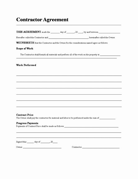 5 General Contract Agreement