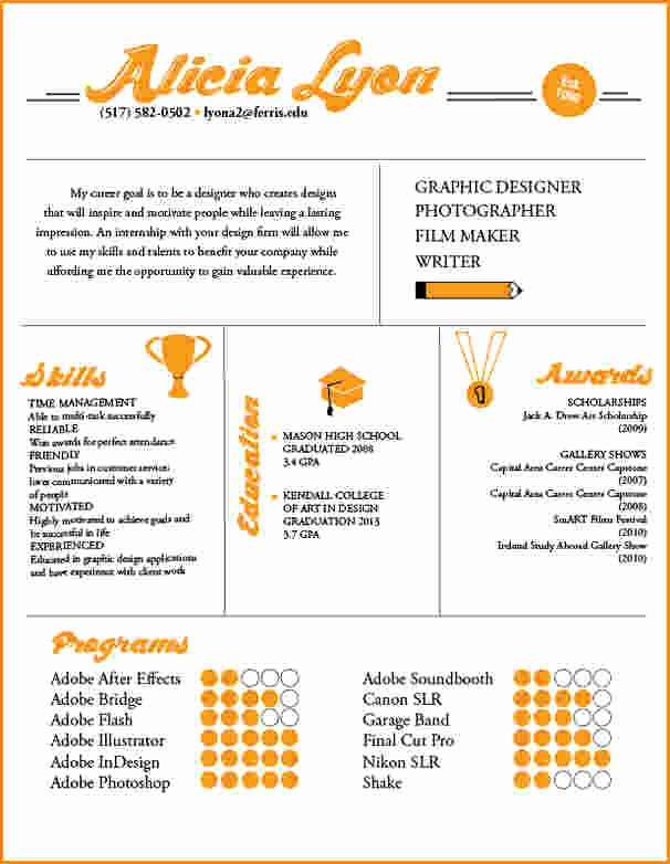5 Graphic Design Skills Resume