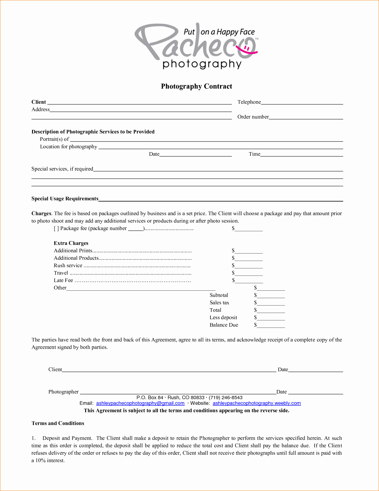 5 Graphy Contract Template