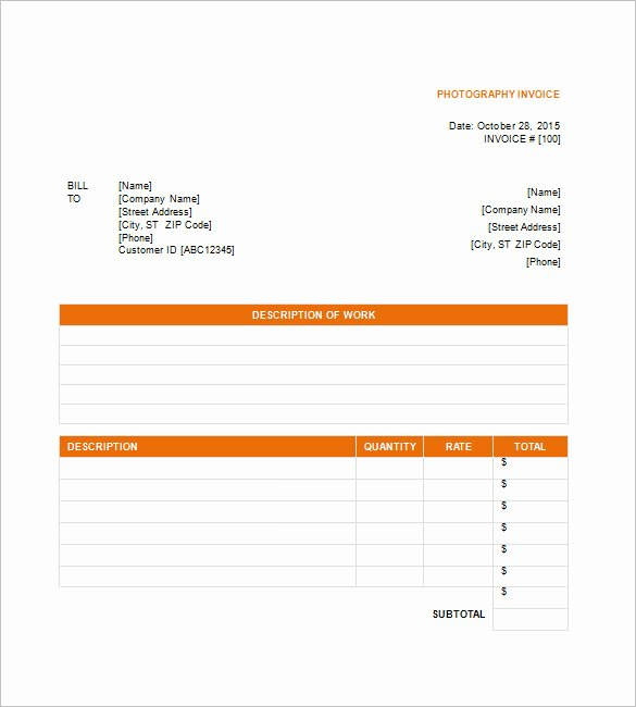 5 Graphy Invoice Templates Doc Pdf