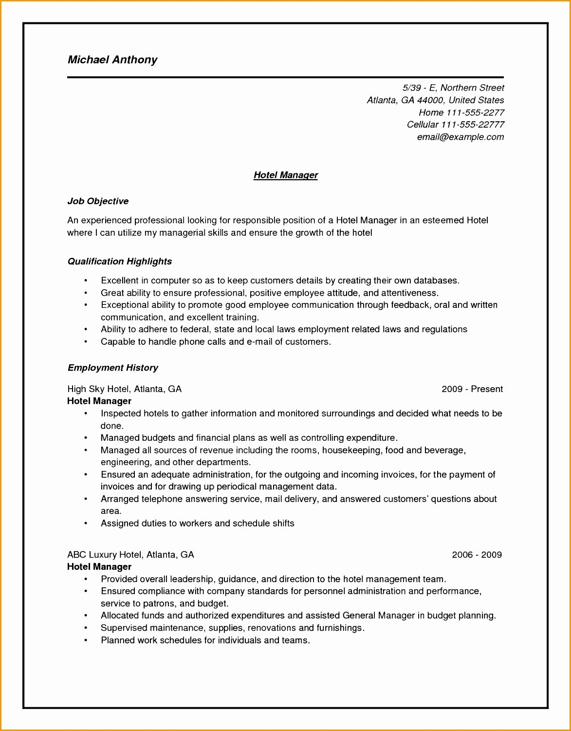 5 Housekeeper Resume Sample Free Samples Examples