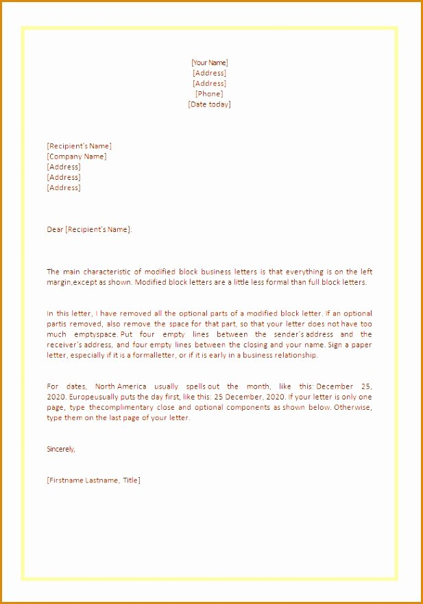 5 How to Type A Business Letter format Besttemplates