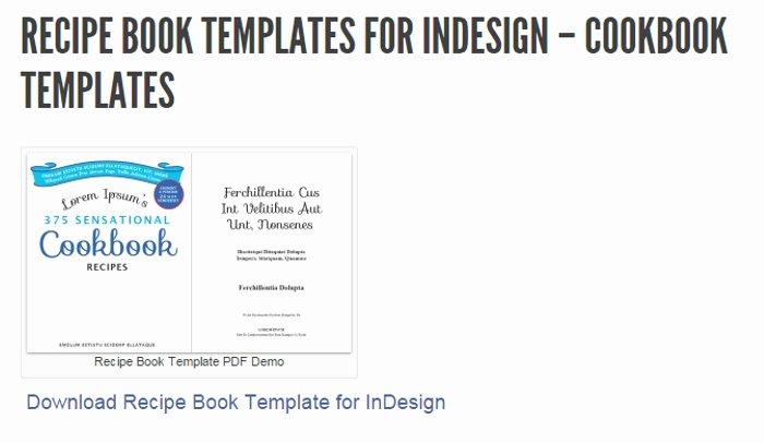 5 Indesign Cookbook Template