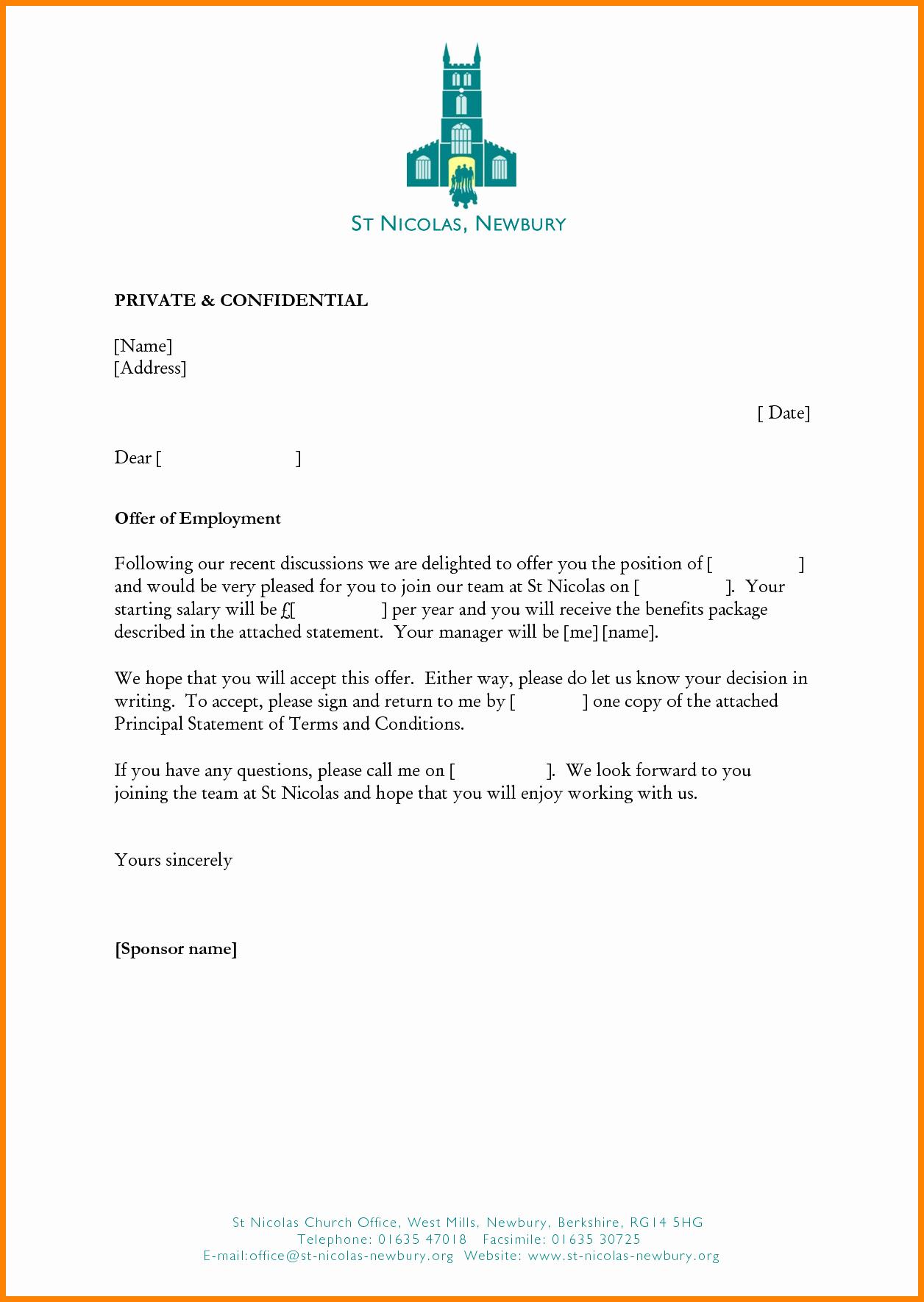 5 Job Offer Letter Templates