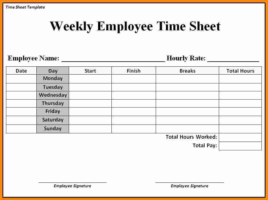 5 Job Timesheet Template
