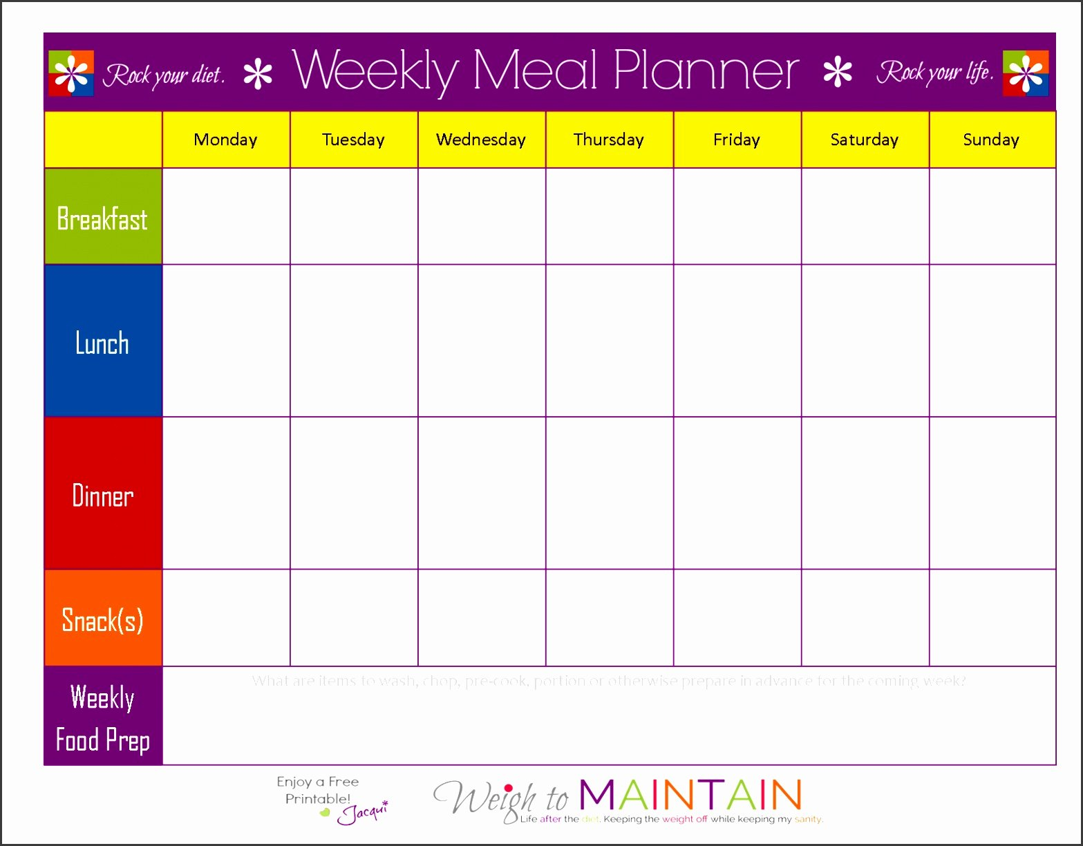 5 Kindergarten Weekly Lesson Plan Template