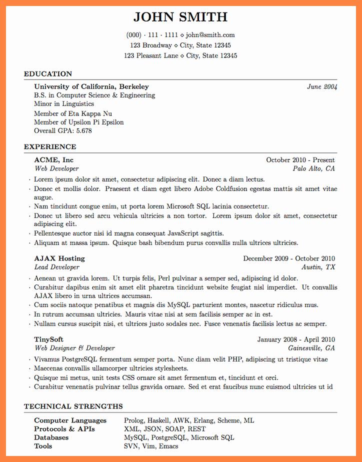 5 Latex Resume Templates Professional