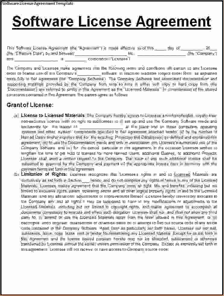 5 License Agreement Templatereport Template Document