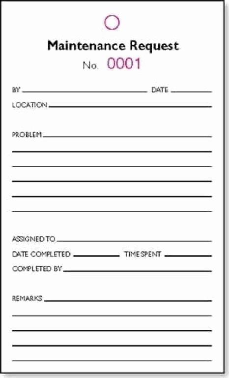 5 maintenance request form templates