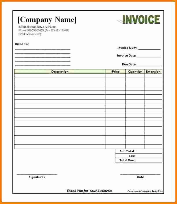 5 Mercial Invoice Template Pdf
