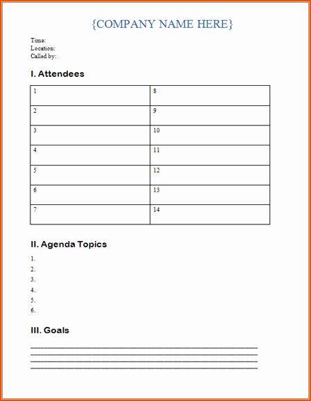 5 Microsoft Word Agenda Template Bookletemplate