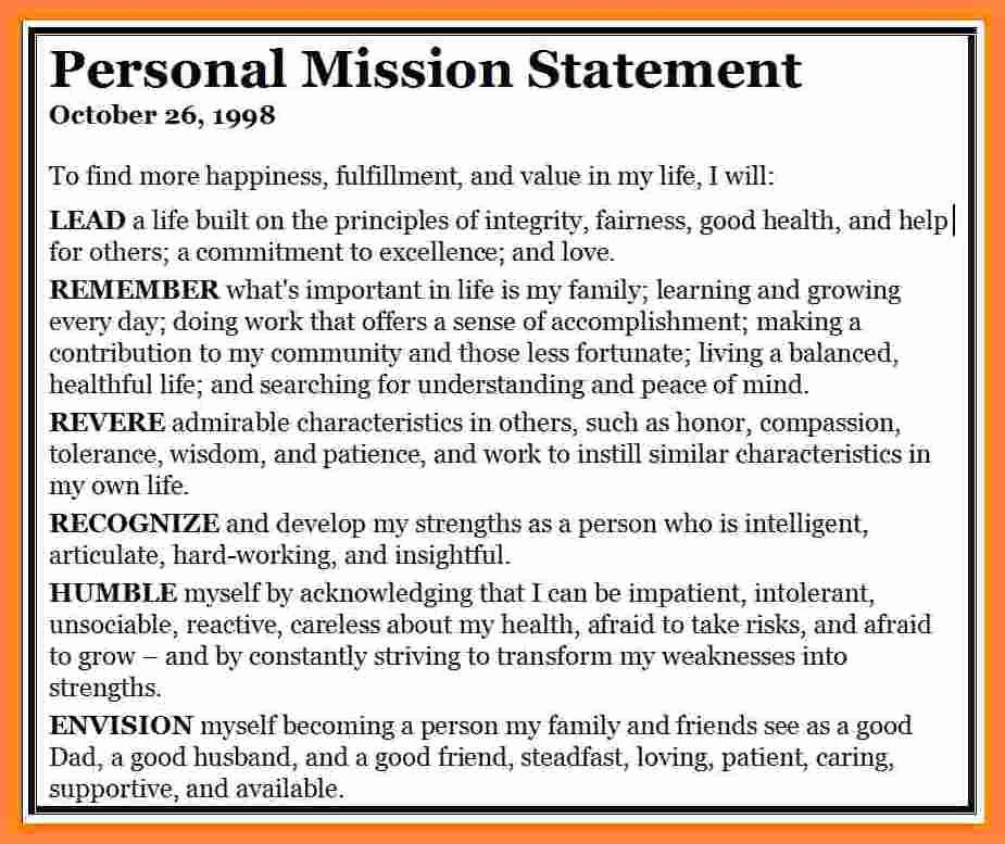 5 Mission Statement Examples Personal