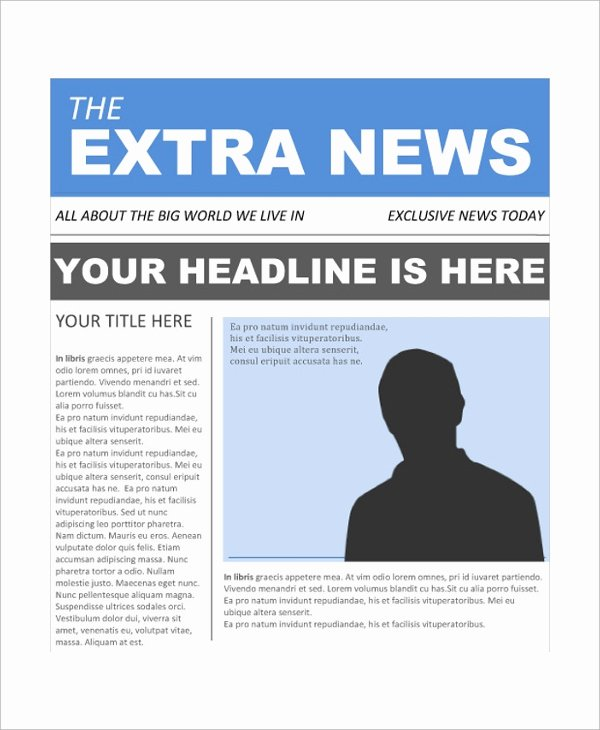 5 Newspaper Front Page Samples