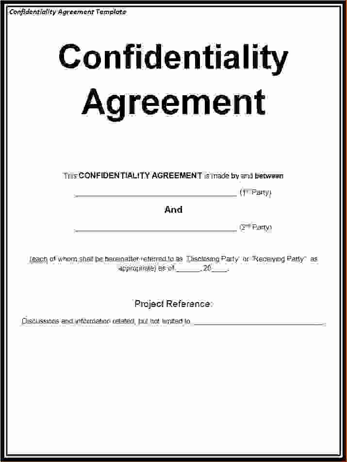 5 Non Disclosure Agreement Template Freereport Template