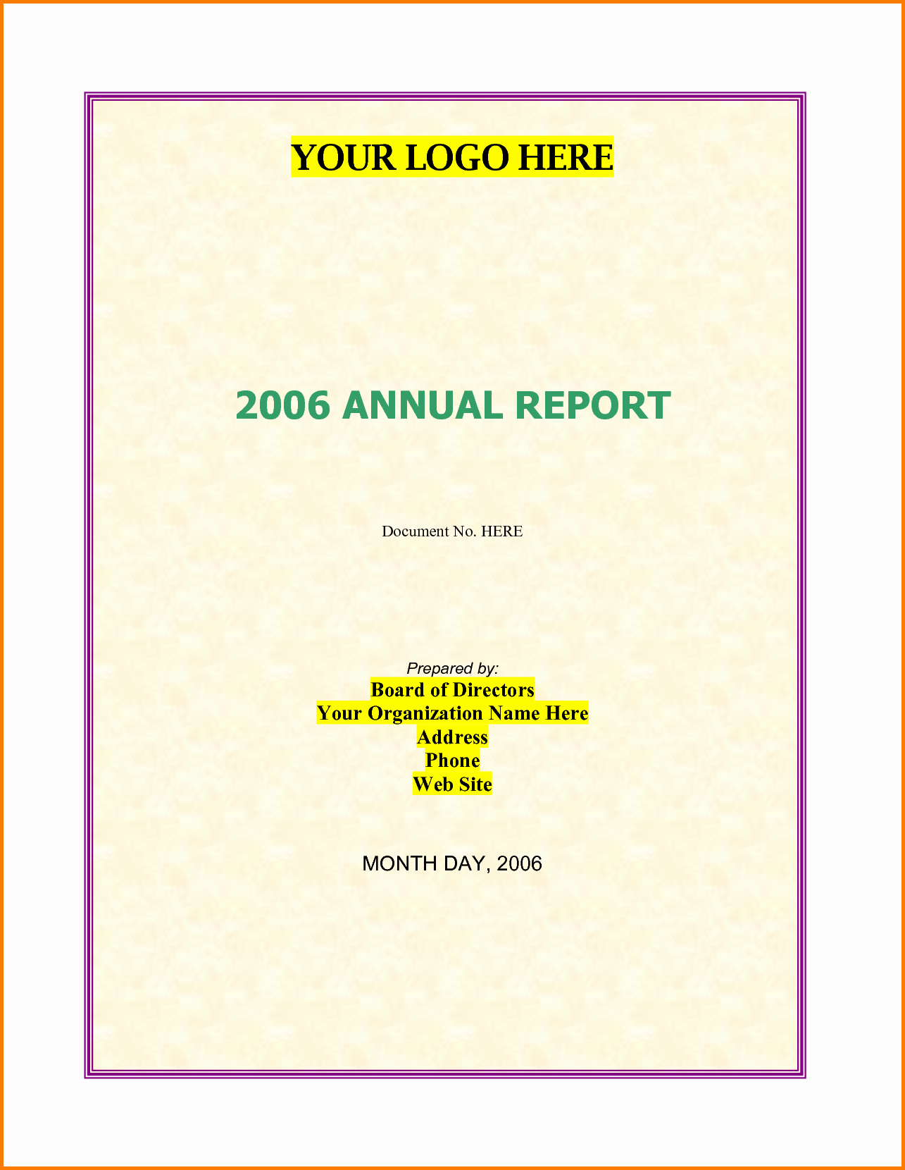5 Nonprofit Annual Report Template