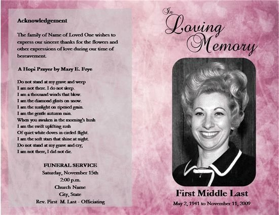 5 Obituary Template and Samples Free Download