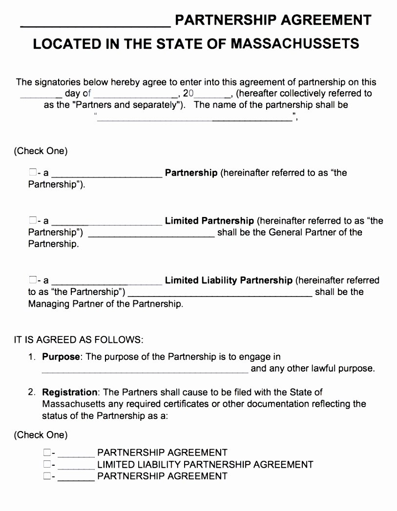 5 Partnership Agreement Template Free Download Euiaa