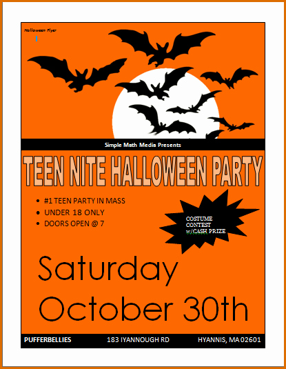 5 Party Flyer Templates