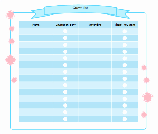 5 Party Guest List Template Bookletemplate