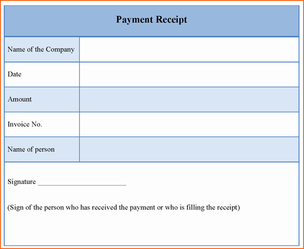 5 Payment Receipt Template Bud Template Letter