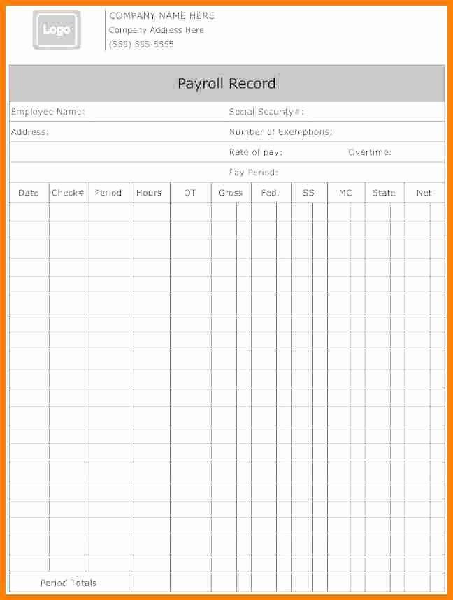5 Payroll form Templates