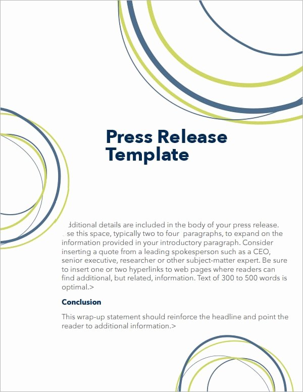 5 Press Release Templates Word Excel Pdf Templates