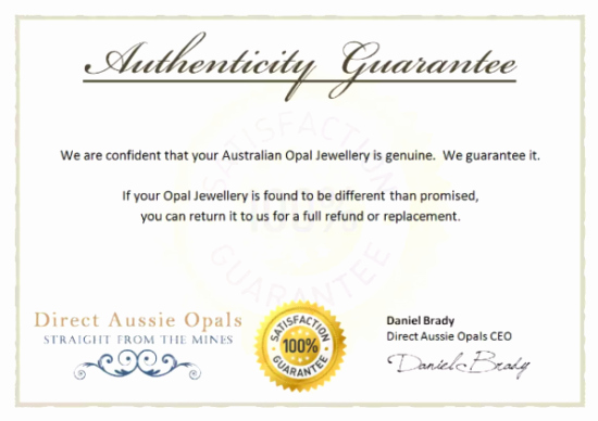 5 Printable Certificate Of Authenticity Templates Doc