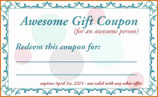 5 Printable Coupon Template